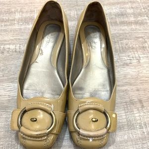 Cole Haan Tan Patent Leather Flats